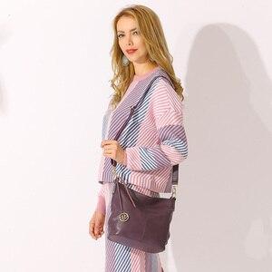 Image 2 - Zency charme violet femmes sac à bandoulière 100% en cuir véritable Hobos mode dame messager sac à bandoulière élégant femme sac à main