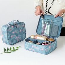 Flamingos Travel Cosmetic Storage Bag Women s Toiletry Wash Pouch Makeup Case Organizer Luggage Wholesale Accessories