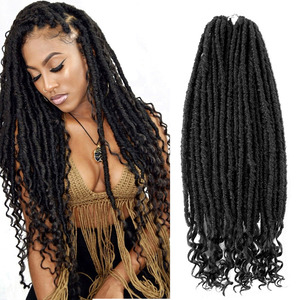 Goddess Hair Faux Locs Crochet Braids 18inch Soft Dreads Natural Braid Synthetic Braiding Hair Extension Deadlocks