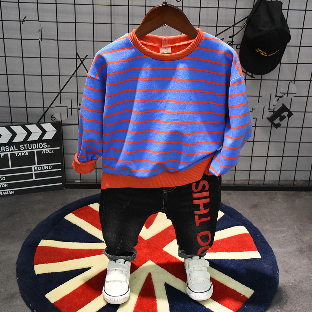 spring autumn Baby Boy Clothes Set Children Clothing Sets Products Kids Clothes Baby Boys Striped T-shirt and jeans 2pcs boy set