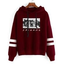friends halloween sweatshirt women horror character hoodies vintage fashion gothic clothing print oversized hoodie