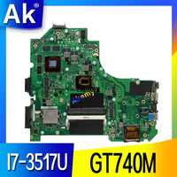 AK S550CB Laptop motherboard for ASUS S550CB S550C A56C K56C K56CB K56CM mainboard I7-3517U GT740M