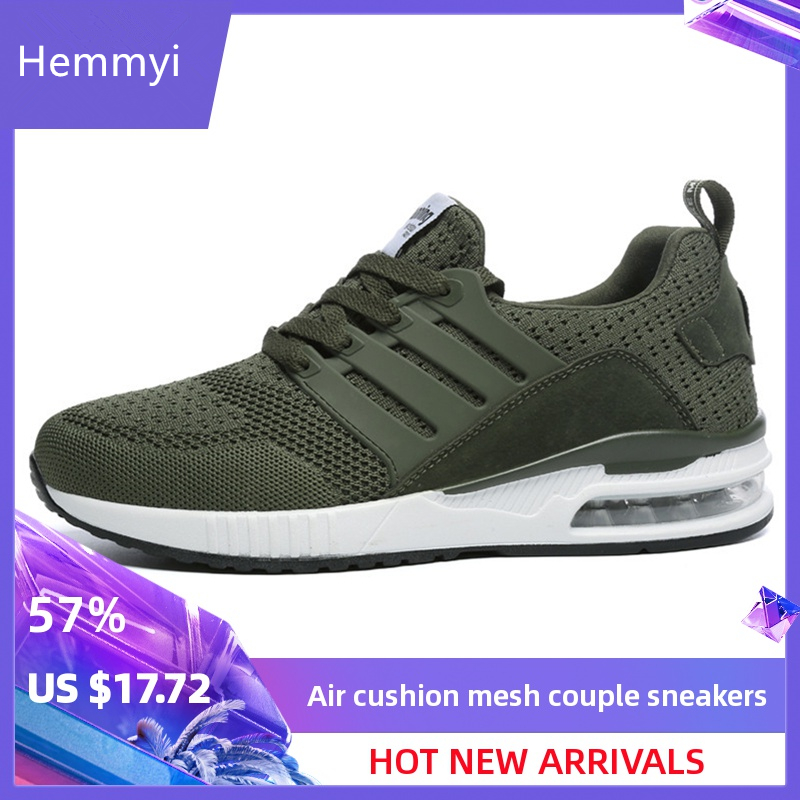 Hemmyi 2019 New Couple Sneakers Spring Autumn Men Women Breathable Lightweight Sports Shoes Comfortable Running Shoes Size 36-44