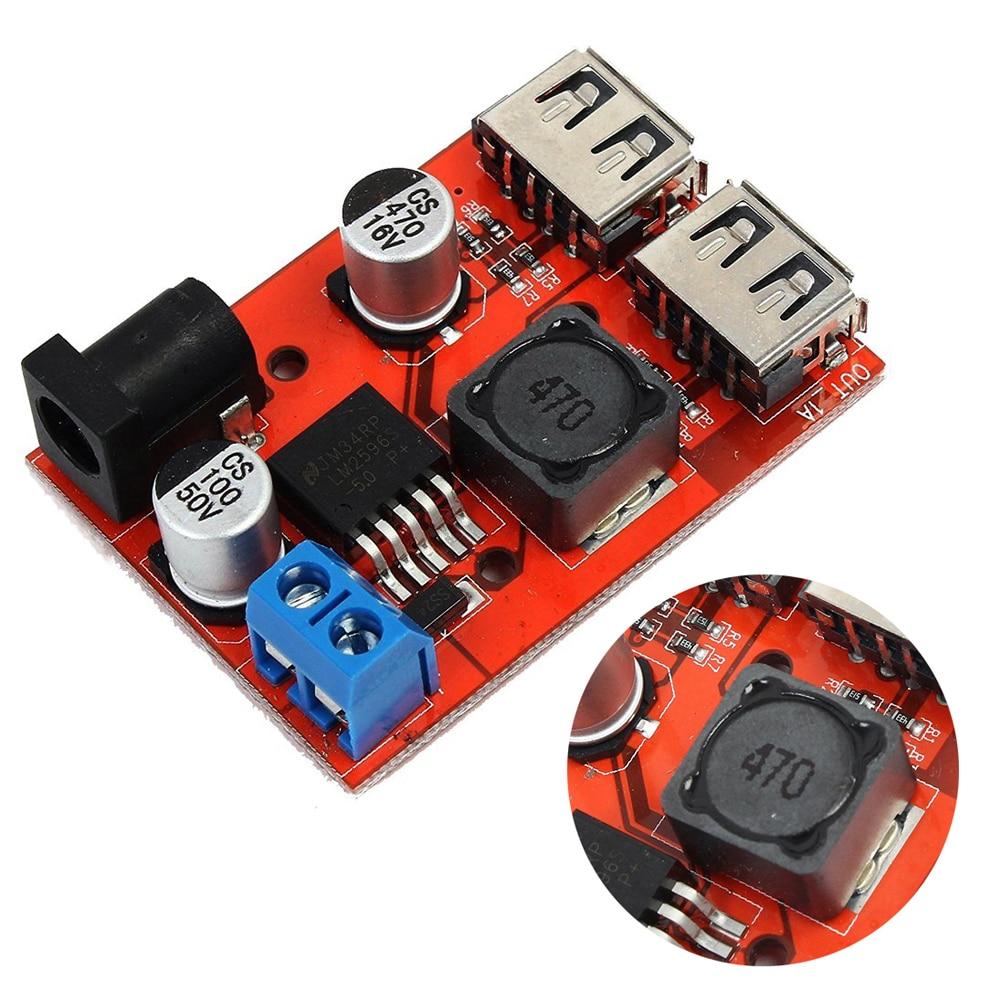 3A Voltage Regulator Board DC-DC 9/12/24/36V To 5V Dual USB Step-down Module Vehicle Charging Solar