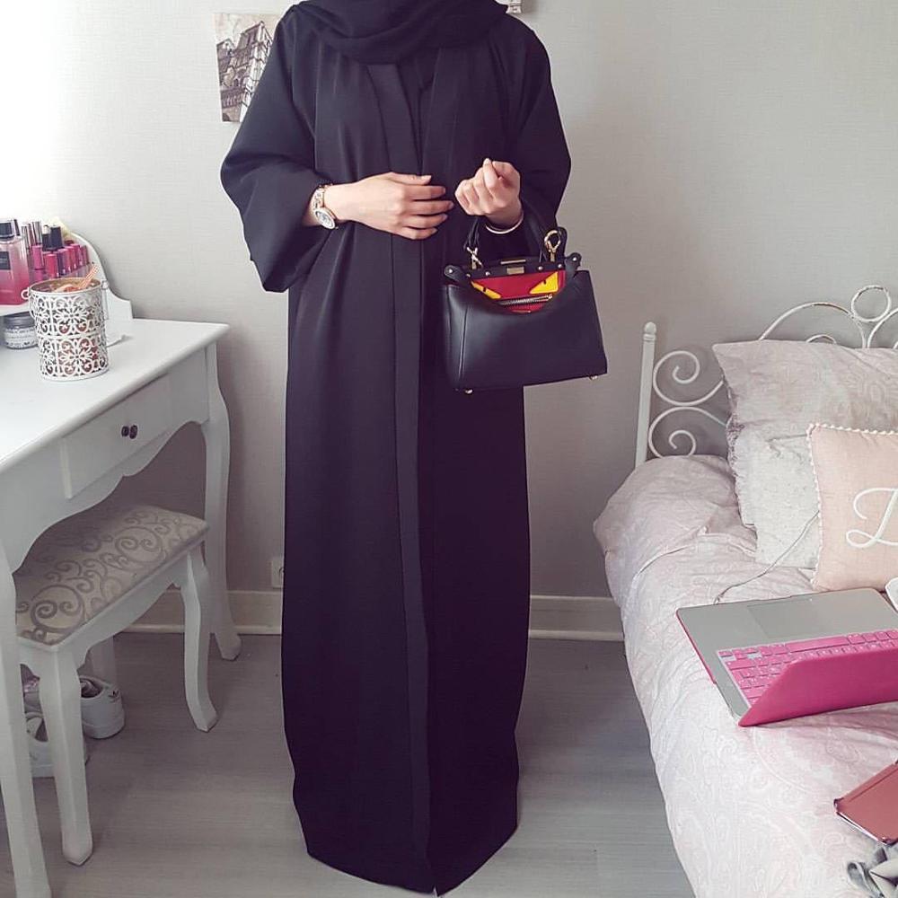 Elegant Muslim Open Abaya Maxi Dress Cardigan Party Kimono Long Robe Gowns Jubah Middle East Eid Ramadan Arab Islamic Wholesale