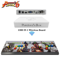 Pandora Box 6 1300 in 1 wireless iron Console set 2 Players Joystick Wolverine surface Sticker controller support ps3