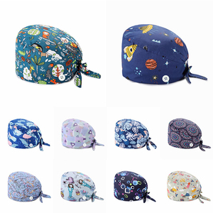Women's Operating Room Hats Pharmacy Nursing Cap Laboratory Pet Shop Doctor Hat Surgicals Hat Unisex Floral Operating Room Hat