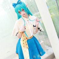 Hight Quality Anime Aotu World Anlijie Lemon Lolita Dress Woman Cosplay Costume Shirt + Tippet + Skirt + Headwear + Elf Ears
