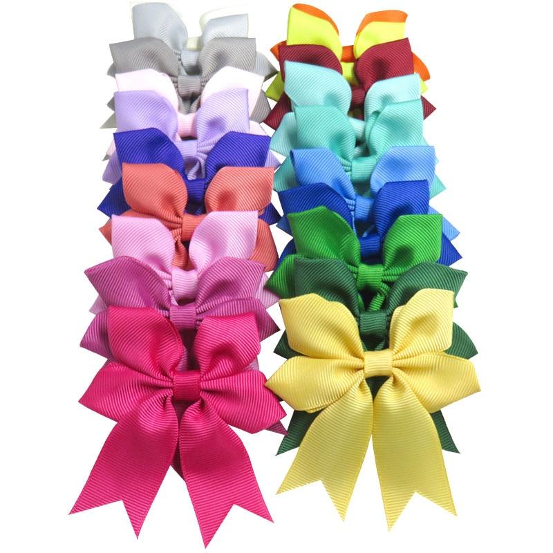 1PCS Lovely Snowflake Elastic Hair Bands Girls Ribbon Clips Bows Girl Hair Tie Hairpin Handmade Fashion Hair Accessories