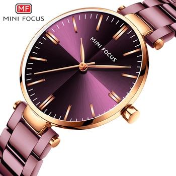 цены MINIFOUCS Women Watches Gold Rosegold Stainless Steel Quartz Watch Women Lady Watch For Woman Luxury Brand Fashion Wristwatches
