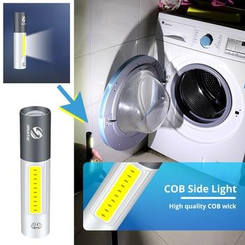 USB Rechargable Mini LED Flashlight 3 Lighting Mode Waterproof Torch  Telescopic Zoom Stylish Portable Suit for Night Lighting 6