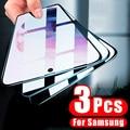 Закаленное стекло с полным покрытием для Samsung Galaxy S21 Plus A10 A20 A30 A40 A50 A60 A70 A51 A52 A71 A20E, Защитное стекло для экрана, 3 шт.