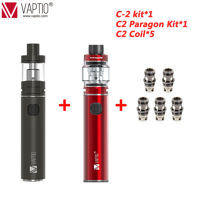 Russia SHIPPING!!100% Original Vaptio C-II Starter Kit 3000mAh Long-last Battery Vape Mod Kit Vaporizador Electronic Cigarette