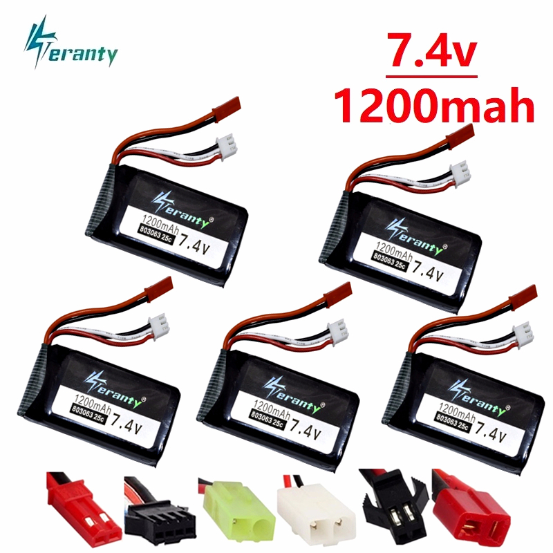 10pc 7.4V 1200mah Lipo batterie Pour Yizhan X6 MJX X101 Wltoys V353 V353B V666 V262 A949 A969 A979 K929 V912 V915 Drone RC batterie