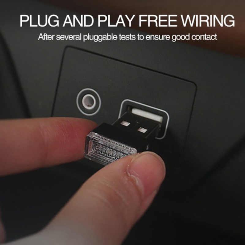 Mini Lampu Mobil LED USB Lampu Atmosfer untuk Kia Borrego Carens Karnaval VQ Jiwa Picanto Sportage Sorento