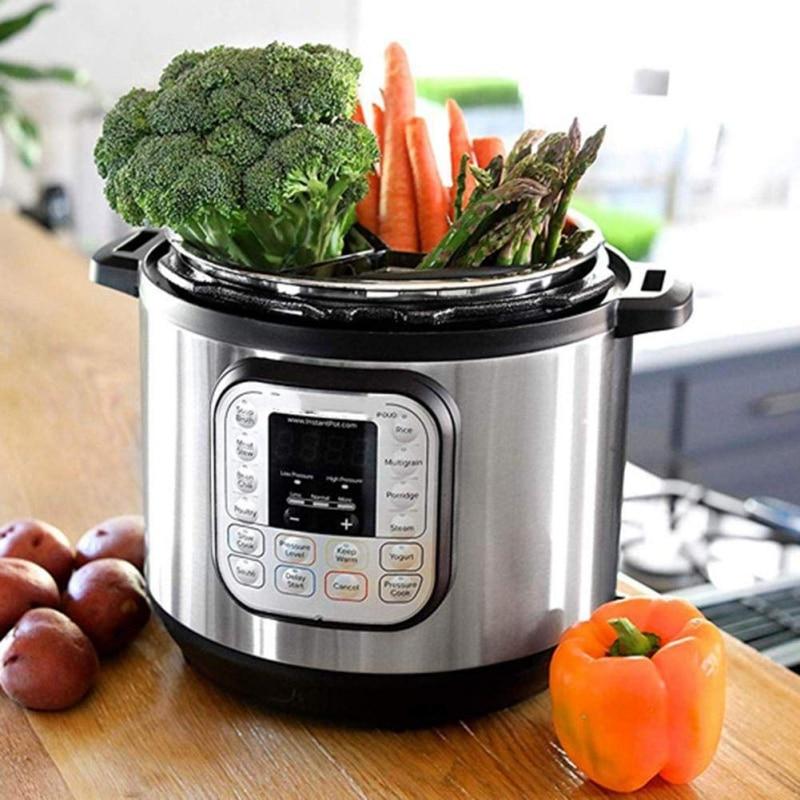 3 Pcs Divided Steamer Basket Vegetable Steamer Insert Egg Basket Pasta Strainer  For Pressure Cookers Accessories