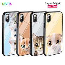 Black Cover Lovely Cat for iPhone X XR XS Max for iPhone 8 7 6 6S Plus 5S 5 SE Super Bright Glossy Phone Case black cover lovely cat for iphone x xr xs max for iphone 8 7 6 6s plus 5s 5 se super bright glossy phone case