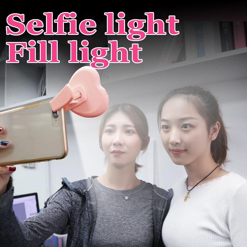 Photo Ringlight Led Selfie Ring Light Phone Clip Lamp Photography Lighting Holder Youtube Video Light with Clip Fleshlight