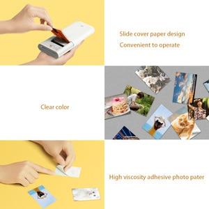 Image 3 - Xiaomi Mijia Ar Printer 313X400 Dpi Draagbare Foto Mini Pocket Met Diy Delen 500Mah Foto Printer Pocket printer