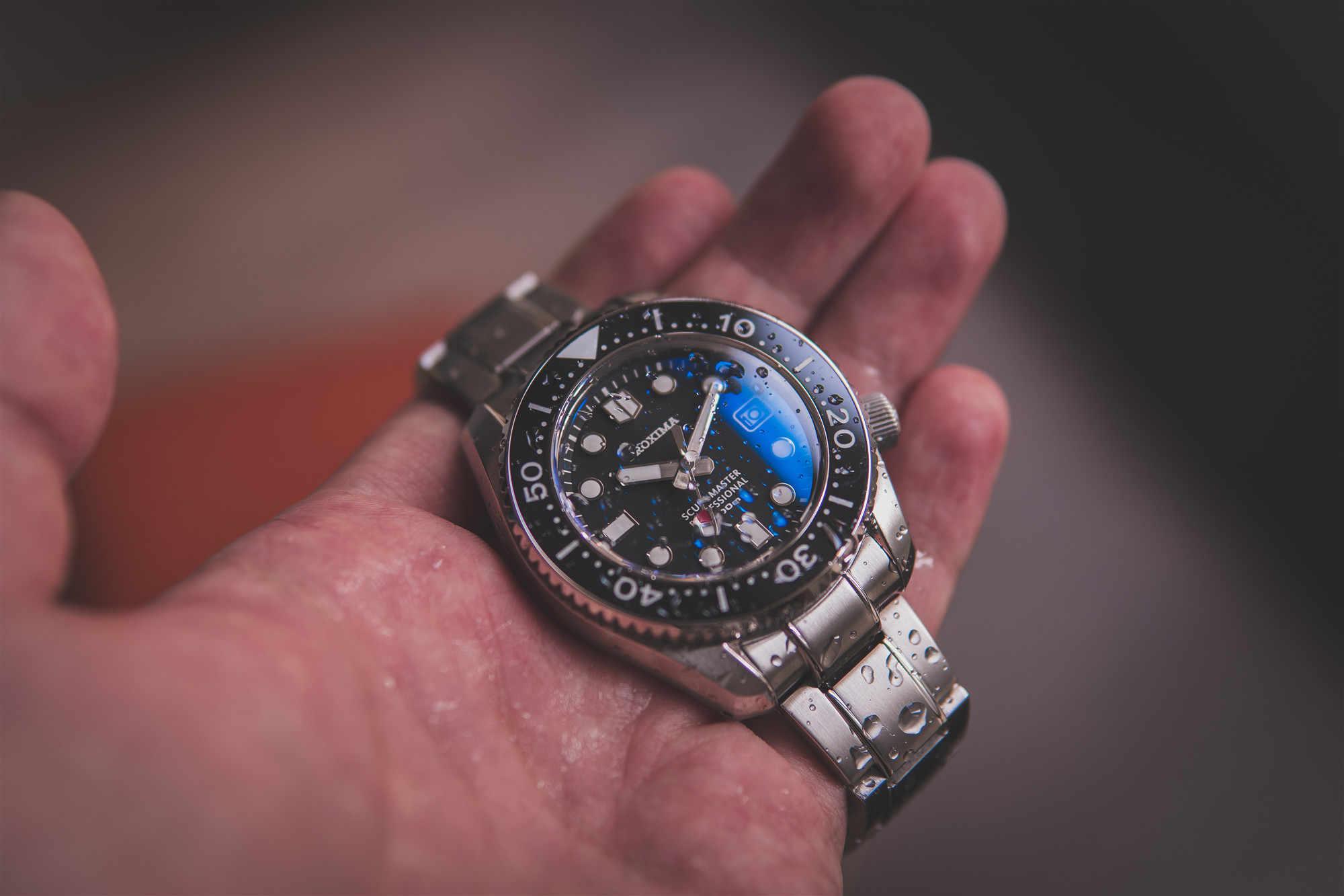 Proxima 44 ミリメートルブラックダイヤルセラミック回転ベゼルサファイアガラス 300 メートル防水ステンレス鋼NH35 automaticmens腕時計