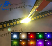 100pcs/lot SMD LED Diodes 2835 Diode 3528 SMD LED Diodo Kit Green RED WARM White ICE Blue Yellow Pink Purple-UV Orange(China)