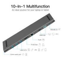 USB Type-C to USB 3.0 TF HDMI VGA RJ45 Mini DP Docking Station Laptop Docking Station For MacBook Air/MacBook Pro Samsung Galaxy