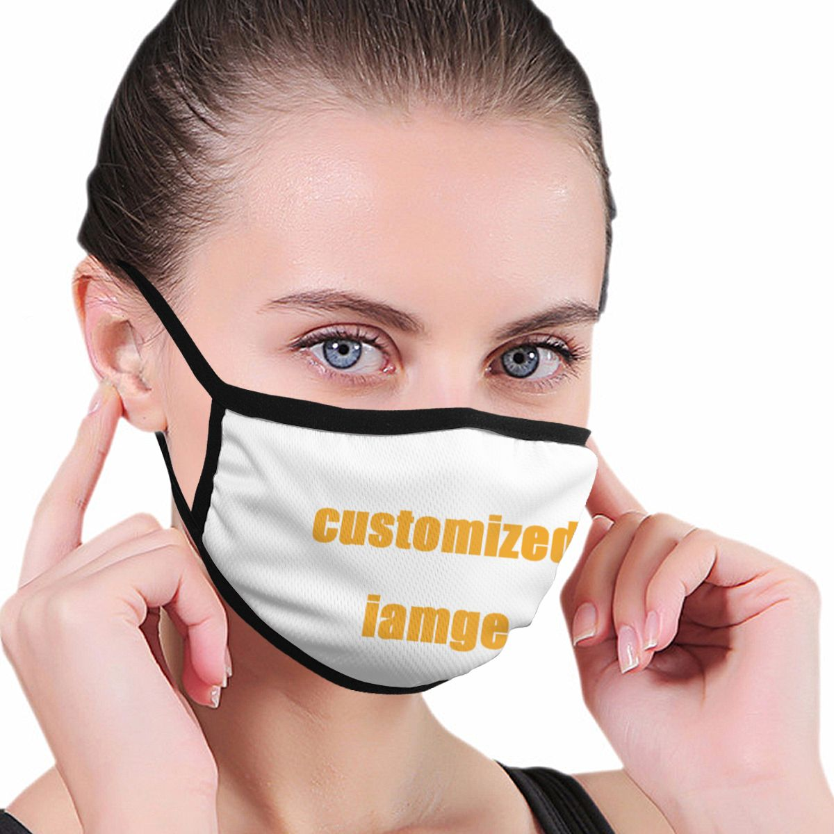 NOISYDESIGNS 10PCS/set Mouth Mask Custom Printed Washable Breathable Customized Mouth Cover Face Mouth Mask Clothing Accessories