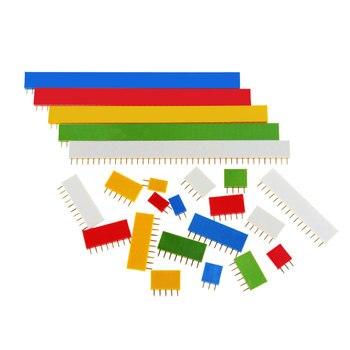 10 sztuk 2.54mm jeden rząd kobiet płytka drukowana do złącz stykowych taśmy Pinheader 1x2 P 3 4 6 8 10 16 40P 1 pin kolorowe gniazdo