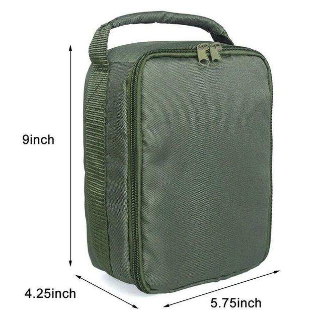 Купить сумка органайзер для рыболовных катушек с несколькими отделениями картинки цена