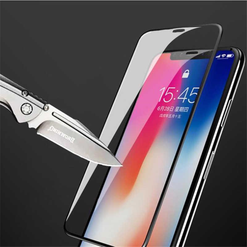 Kowkaka 5d vidro temperado para iphone 11 11pro max x xs max xr 6 s 7 8 plus protetor de tela de vidro protetor para iphone 8 vidro
