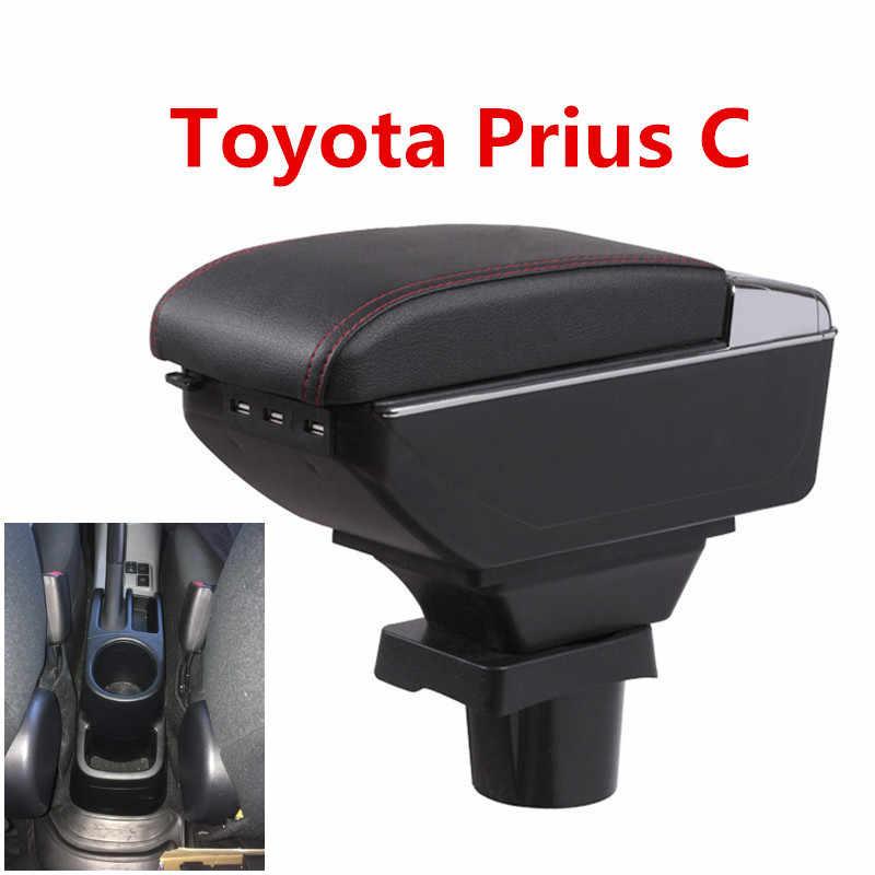 ToyotaPrius ため C プリウス C アームレストボックス中央店コンテンツ収納ボックスアクアアームレストボックスカップホルダー灰皿 USB インタフェース