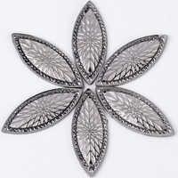 Taidian résine or rose Cabochon résine coudre sur strass pour perle indigène travail 20*50MM 50 PCS/LOT