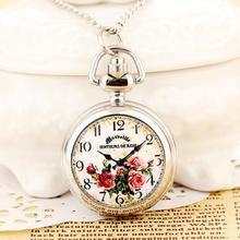 Новая мода мужчин и женщин карманные часы Кварцевые высококачественной стали стимпанк печать Бесплатная доставка RelogioMasculino