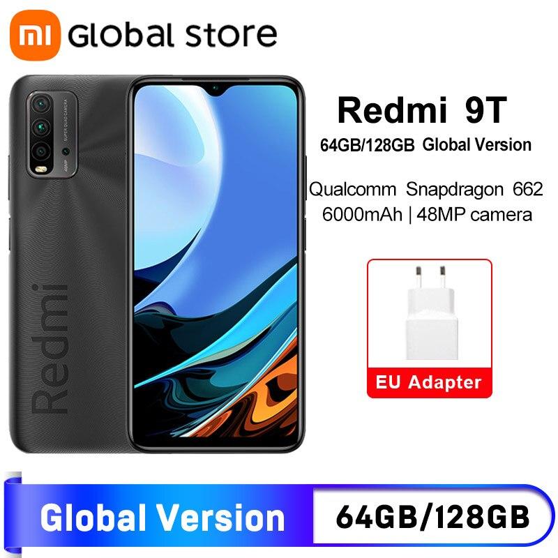 В наличии глобальная версия смартфона Xiaomi Redmi 9T 4 Гб 64 ГБ/4 Гб 128 ГБ/6 ГБ 128 ГБ Snapdragon 662 48MP камера заднего вида 6000 мАч без NFC