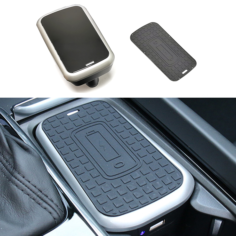 Car wireless charger for <font><b>Volvo</b></font> <font><b>XC60</b></font> S60 V60 C60 XC90 S90 V90 2018 <font><b>2019</b></font> 2020 10W QI wireless charging phone charger accessories image