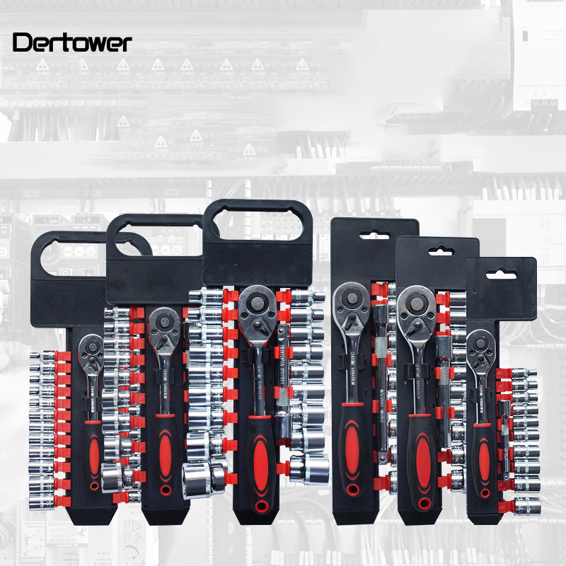 55 # metric steel quick ratchet socket wrench set universal wrench multi functional hexagon wrench auto repair sleeve set|Wrench| |  - title=