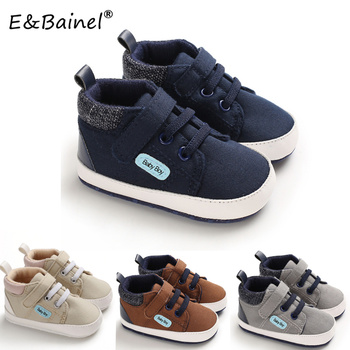 E&Bainel Baby Boy Shoes Classic Canvas Sports Sneakers Soft Sole Anti-slip Newborn Infant For Prewalker First Walkers - discount item  10% OFF Baby Shoes