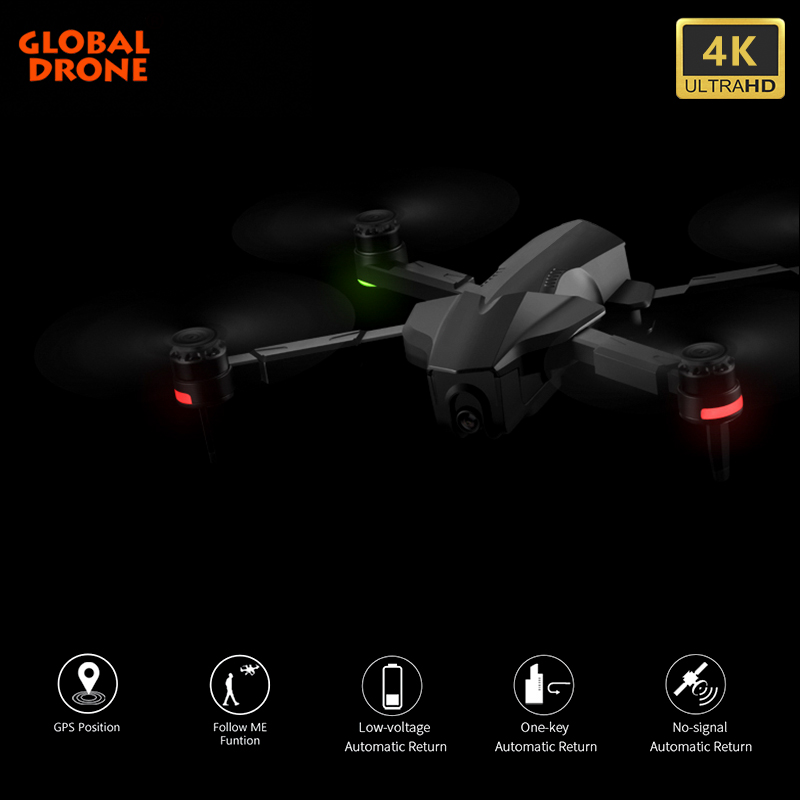4K GPS Drone With Wifi FPV HD Camera Brushless Quadcopter 28 Mins Fly Time Foldable Quadrocopter Dron VS E520 ZEN K1 F11 PRO