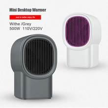 500W Elektrische Heizung Tragbare Mini Desktop Wärmer Maschine für Auto Home Office Keramik Schnelle Wärme Handliche Zimmer Heizung Fan