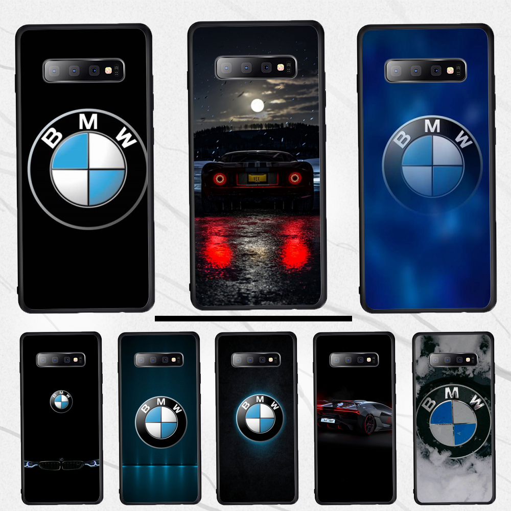 Famous Car BMW Soft TPU Silicone Phone Case TPU Black Phone Case Cover Hull For Samsung S10e S10 9 8 7 S6 Edge Plus