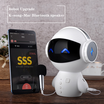 HOT Portable speaker M10 Robot Bluetooth speaker Bluetooth Wireless Speakers Receiver Bass Speaker Stereo Music Player bocinas