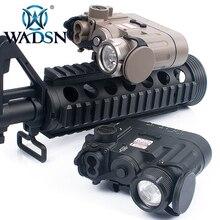 WADSN Airsoft DBAL D2 משולב IR לייזר אדום לייזר טקטי פנס 300 Lumens LED 14DBAL סוללה מקרה WEX328 נשק אורות