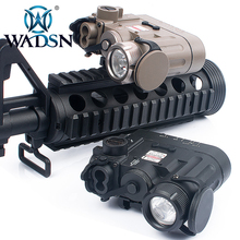 Wadsn airsoft DBAL D2 multifunções ir lazer laser vermelho lanterna tática 300 lumens led dbal bateria caso wex328 arma luzes