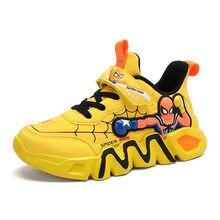 Zapatos de Spider-Man para niño, zapatillas deportivas suaves para correr, baloncesto, tenis infantil