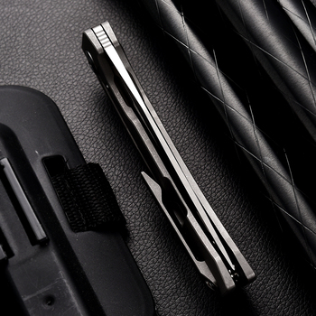 LAND 140 Needle Bearing Pocket Folding Knife VG10 Blade TC4 Handle Outdoor Camping  Survival Hunting Tactical EDC Tool Knives 6