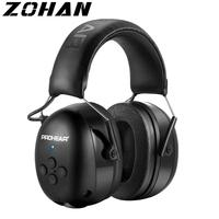 ZOHAN cuffie elettroniche 5.0 cuffie Bluetooth tiro protezione dell'orecchio cuffie Wireless cancellazione del rumore ricarica per la musica