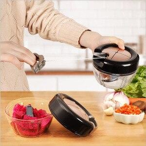 1pc 400ML Powerful Manual Meat Grinder Hand-power Food Chopper Mincer Mixer Blender to Chop Meat Fruit Vegetable Nuts Shredders