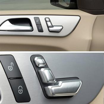 Airspeed Car Seat Adjust Button Cover Sticker for Mercedes Benz A B C E Class W204 W212 GLA X156 CLA C117 GLE W166 ML GL GLS 1