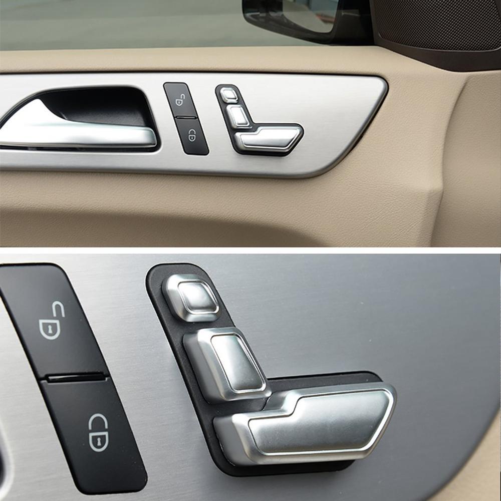 Airspeed Car Seat Adjust Button Cover Sticker For Mercedes Benz A B C E Class W204 W212 GLA X156 CLA C117 GLE W166 ML GL GLS