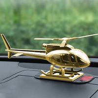 Zinc Alloy Figure Decoration Home Aromatherapy Helicopter Solar Interior Accessories Car Ornament Fragrance Supplies Automotive